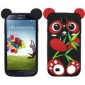 BasAcc Red/ Black Panda Pastel Skin Case for Samsung Galaxy S4 I337