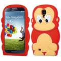 BasAcc Red Monkey Pastel Skin Case for Samsung Galaxy S4