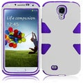 BasAcc White/ Purple Case for Samsung Galaxy S4 i9500