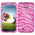 BasAcc Zebra Diamante/ Hot Pink TUFF Case for Samsung Galaxy S45