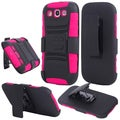 BasAcc Black/ Hot Pink Holster Case with Stand for Samsung Galaxy S3