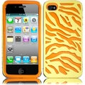 BasAcc Yellow/ Orange Zebra Case for Apple iPhone 4/ 4S