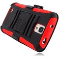BasAcc Black/ Red Holster Case with Stand for Galaxy S4 Active i537