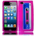 BasAcc Hot Pink Cassette Silicone Case for Apple iPhone 5