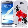 BasAcc Red Lily Case for Samsung Galaxy S Note 2 N7100