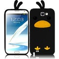 BasAcc Black Funny Duck Case for Samsung Galaxy S Note 2 N7100