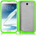BasAcc Clear/ Neon Green TPU Case for Samsung Galaxy S Note 2 N7100
