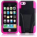 BasAcc Black/ Hot Pink Case with Stand for Apple iPhone 5C