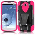 BasAcc Black/ Hot Pink Case with Stand for Samsung Galaxy S3 i9300