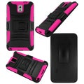 BasAcc Black/ Hot Pink Holster Case with Stand for Samsung Galaxy Note 3