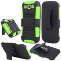 BasAcc Black/ Neon Green Holster Case with Stand for Samsung Galaxy S3