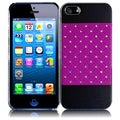 BasAcc Black/ Purple Diamond Metal Case for Apple iPhone 5