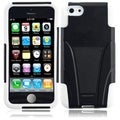 BasAcc Black/ White Case with Stand for Apple iPhone 5C