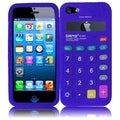 BasAcc Blue Calculator Silicone Case for Apple iPhone 5
