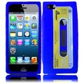BasAcc Blue Cassette Silicone Case for Apple iPhone 5