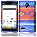 BasAcc Blue Decorative Tribal Case for LG Optimus L9 P769/ MS769