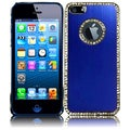 BasAcc Blue Executive Metal Diamond Case for Apple iPhone 5