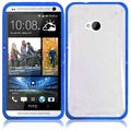 BasAcc Clear/ Blue TPU Case for HTC One M7