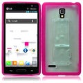 BasAcc Clear/ Hot Pink TPU Case for LG Optimus L9 P769/ MS769