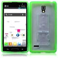 BasAcc Clear/ Neon Green TPU Case for LG Optimus L9 P769/ MS769