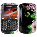 BasAcc Green Flower Case for Blackberry Bold 9900