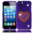 BasAcc Purple Heart Diamond Case for Apple iPhone 5