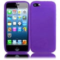 BasAcc Purple Silicone Case for Apple iPhone 5