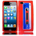 BasAcc Red Cassette Silicone Case for Apple iPhone 5