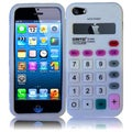 BasAcc White Calculator Silicone Case for Apple iPhone 5