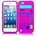 BasAcc Hot Pink Calculator Silicone Case for Apple iPod touch 5