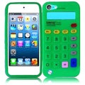 BasAcc Neon Green Calculator Silicone Case for Apple iPod touch 5