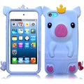 BasAcc White Cute Pig Silicone Case for Apple iPod touch 5