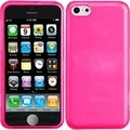 BasAcc Hot Pink Frosted TPU Case for iPhone 5C