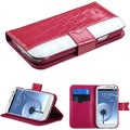 BasAcc Hot Pink/ White MyJacket Wallet Case for Samsung Galaxy S3