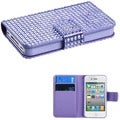 BasAcc Purple Book-style MyJacket Wallet Case for Apple iPhone 4/ 4S
