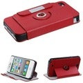 BasAcc Red Rotatable MyJacket Wallet for Apple iPhone 4S/ 4