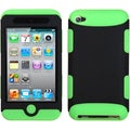 BasAcc Black/ Electric Green TUFF Case for Apple iPod Touch 4