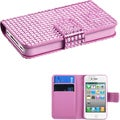 BasAcc Pink Diamante MyJacket Wallet-Style Case for Apple iPhone 4/ 4S