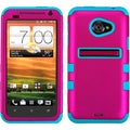 BasAcc Titanium Hot Pink/ Teal TUFF Case for HTC Evo 4G LTE