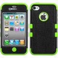 BasAcc Black/ Electric Green TUFF Hybrid Case for Apple� iPhone 4/ 4S