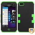 BasAcc Black/ Electric Green TUFF Hybrid Case for Blackberry Z10
