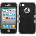 BasAcc Black/ Grey TUFF Hybrid Case for Apple iPhone 4/ 4S