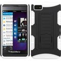 BasAcc Black/ White Car Armor Stand Case for Blackberry Z10