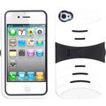 BasAcc Black/ White Wave Symbiosis Stand Case for Apple� iPhone 4/ 4S