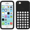 BasAcc Black with Holes Solid Skin Case for Apple iPhone 5C