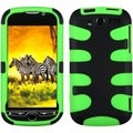 BasAcc Black/Electric Green Fishbone Case for HTC myTouch 4G