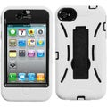 BasAcc Black/ White/ Symbiosis Stand Case for Apple iPhone 4S/ 4