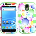 BasAcc Bubbles/ Green TUFF Hybrid Case for Samsung T989 Galaxy S2
