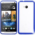 BasAcc Clear/ Dark Blue Gummy Case for HTC One M7