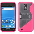 BasAcc Clear/ Hot Pink Case with Stand for Samsung� Galaxy S2 T990